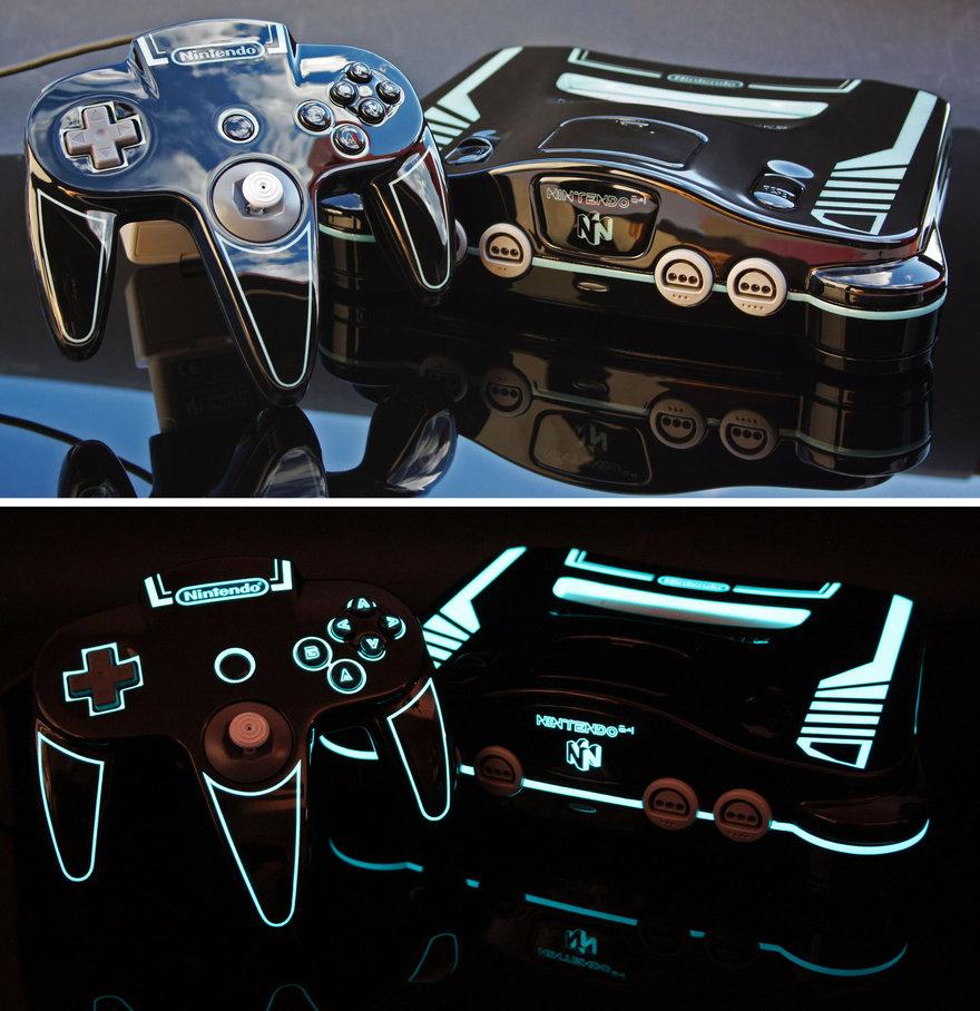 Com detalhes luminosos! Esse console é ou não é uma beleza?