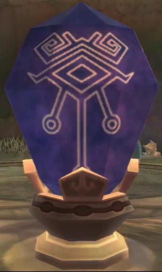 Pedra que permite que o Link viaje no tempo.