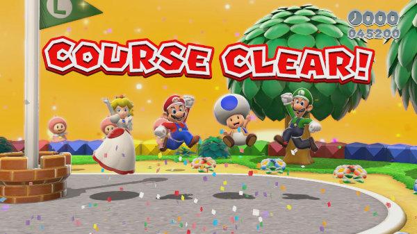 Super-Mario-3D-World-Course-Clear