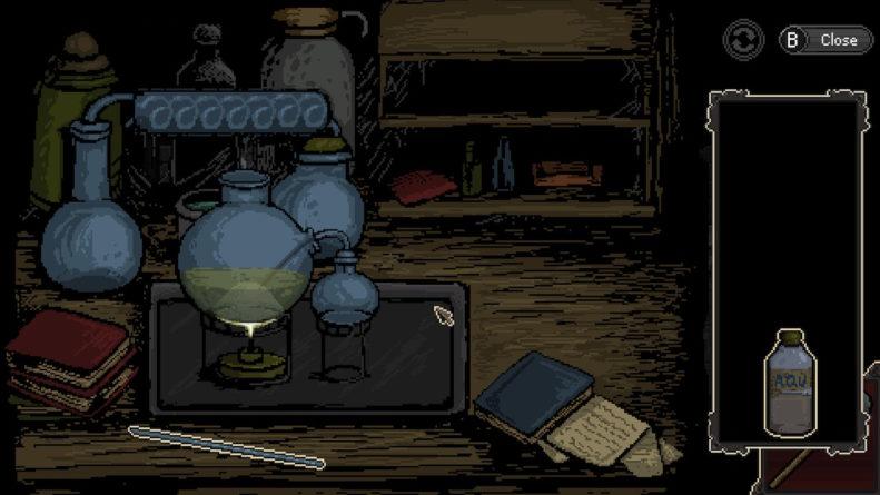 Misturando substâncias para resolver um quebra-cabeça